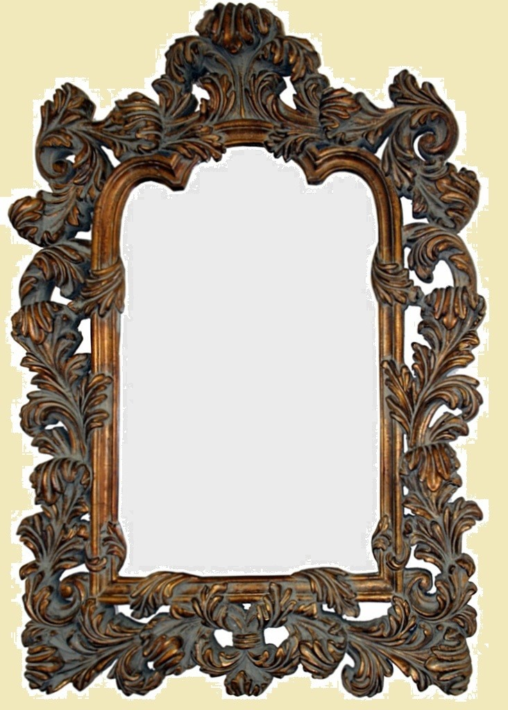 CFO46 Dark gold ornate mirror