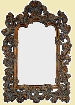 CFO46 Dark gold ornate mirror