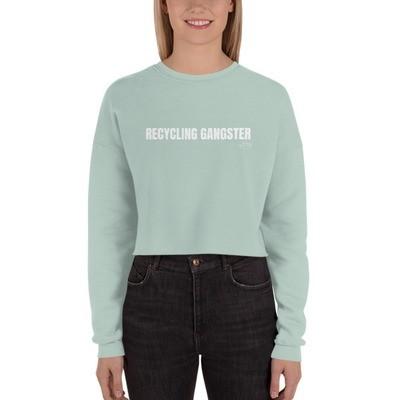 Recycling Gangster Fleece Crop Sweatshirt