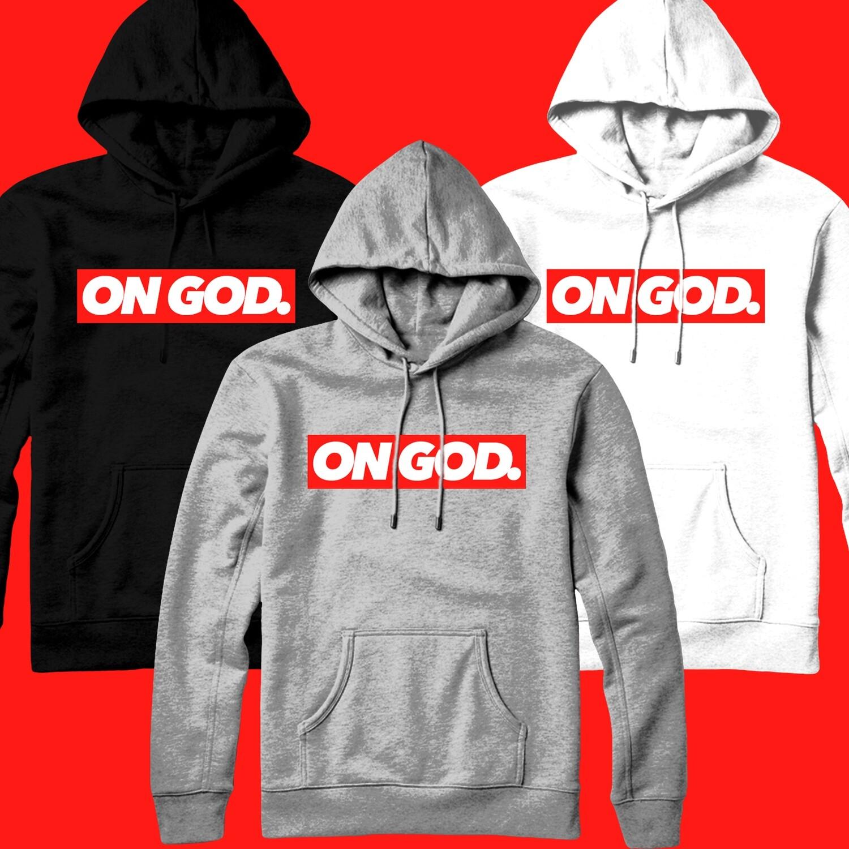 On God. BOX Pullover