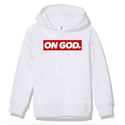 On God. BOX Pullover WHITE