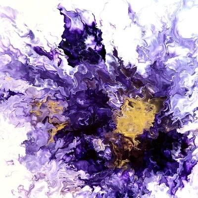 """20"""" Painting  - """"Pioggia Viola"""""""