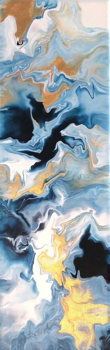 "4"" x 12"" Original Acrylic Painting"