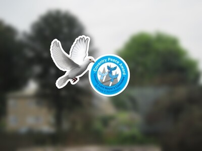 Peace Award Window Clings with free shipping
