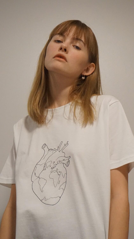 Mitt hjartans mál / My eco heart Organic T-shirt