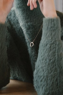 Imperfection necklace 3mm ring