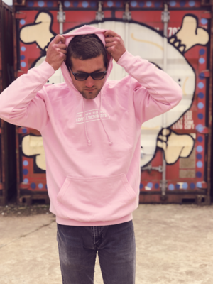 Pastel Pink hooded sweat (Large)