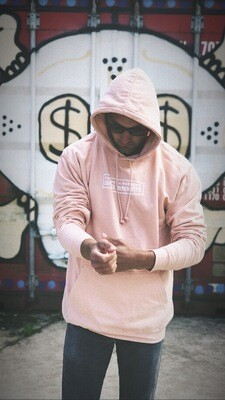Pastel Peach hooded sweat (Large)