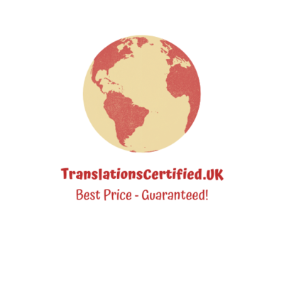 Certified Translations £60