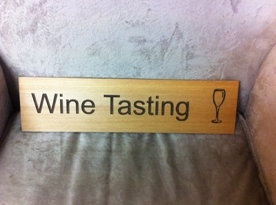 Wine Tasting - Wooden sign