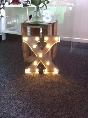 X Metal Sign