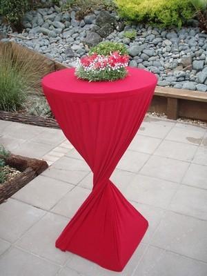 Bar Leaner Cover - Red Lycra