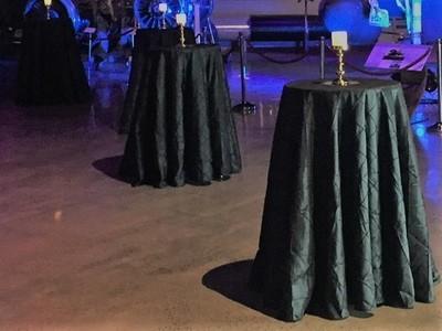 Bar Leaner Cover - Black Pintuck