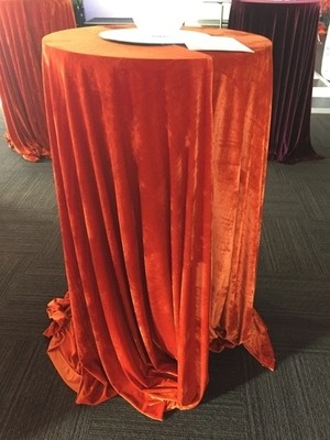 Bar Leaner Cover - Velvet - Burnt Orange