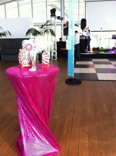 Bar Leaner Covers - Sequin - Hot Pink