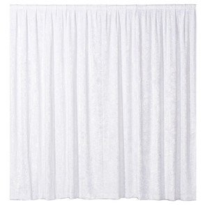 Drapes - White Velvet 3m drop