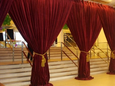 Drapes - Velvet Deep Red 2.4m drop