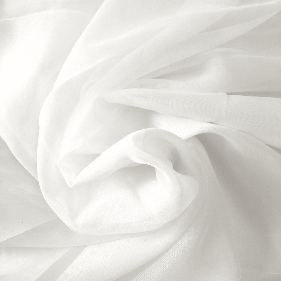 Drapes - Organza - White - 4m drop