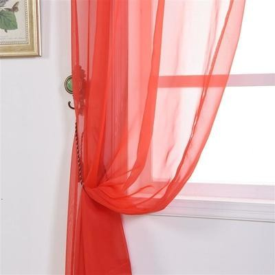 Drapes - Organza - Red