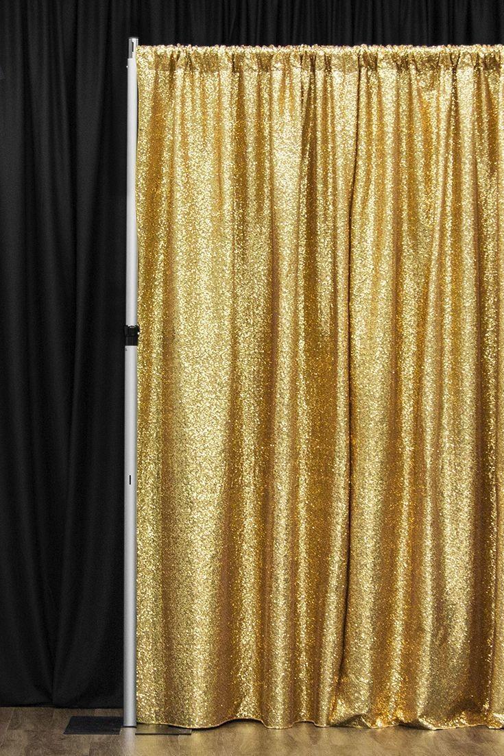 Drape / Backdrop - Sequin Gold 3x3m