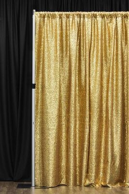 Drape / Backdrop - Sequin Gold 3x3m