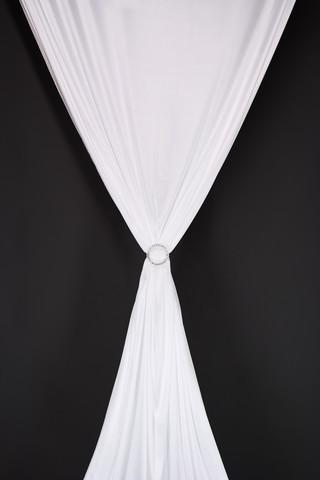 Drape - Satin Stretch White 25m long