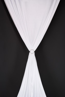 Drape - Satin Stretch White 25m long