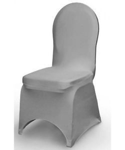 Chair cover - lycra - dark grey