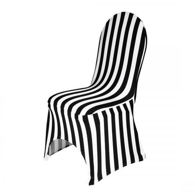 Chair cover - lycra - black/white stripe