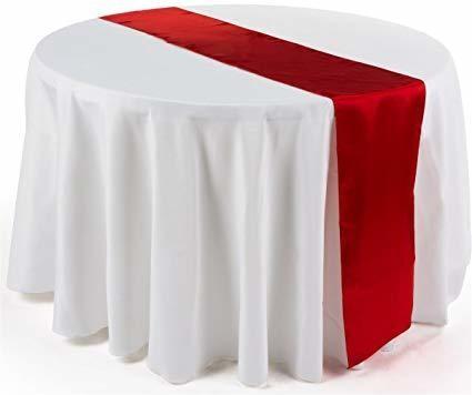 Table Runner - Satin - Red