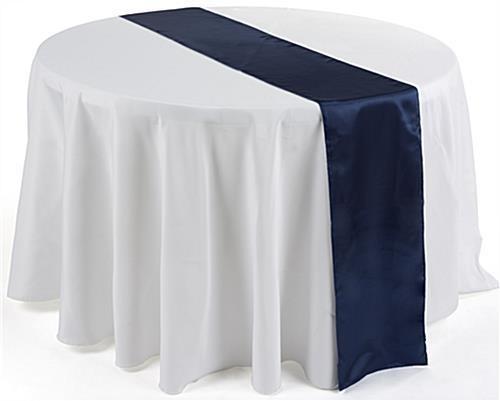 Table Runner - Satin - Navy Blue