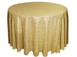 Tablecloth - Sequin - Gold 274cm