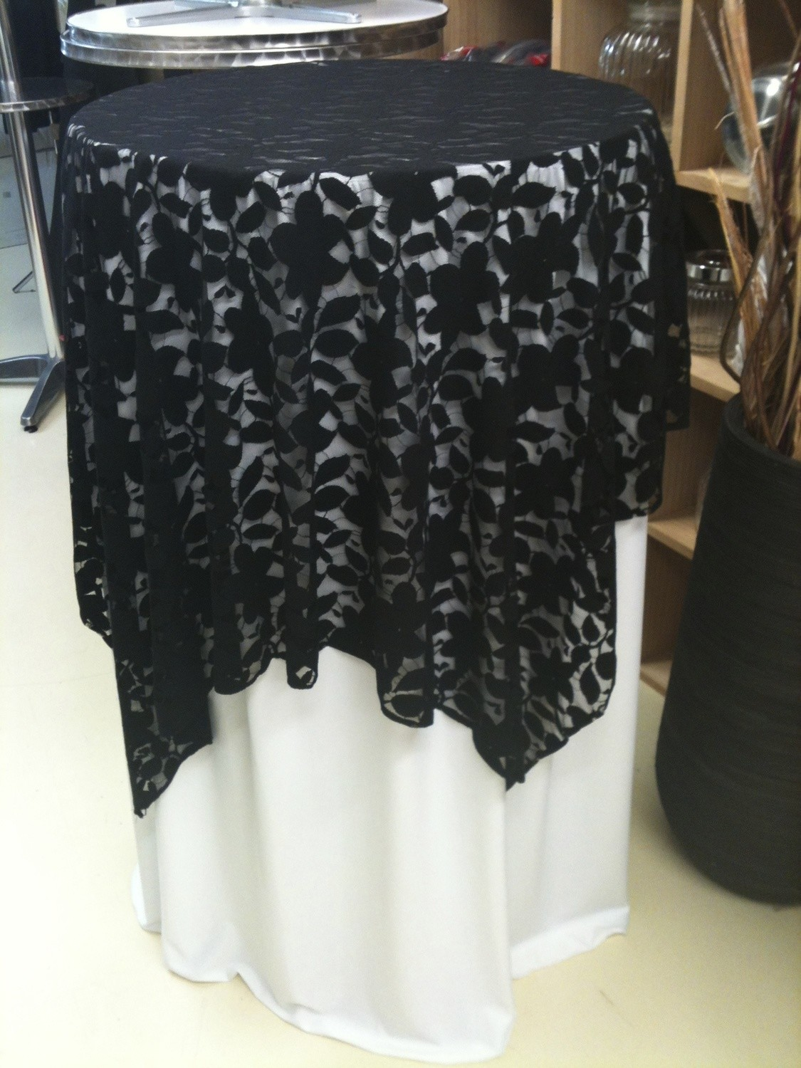 Bar Leaner Cover - Lace - Black
