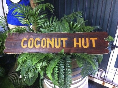Coconut Hut Sign
