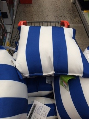 Cushions - Blue/White Stripe