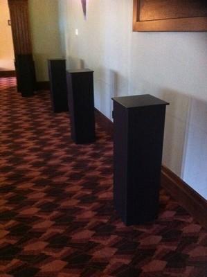 Plinth - Corflute Black 1m H