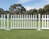 Picket Fence White 3m sections