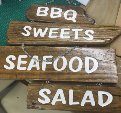 Wooden Sign - Salad