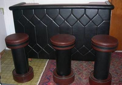 Bar - retro style with stools