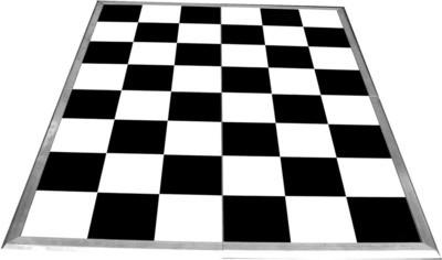 Dance Floor 5x5m black / white