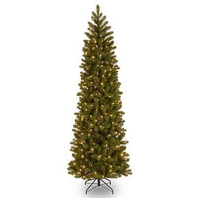 Christmas Tree - Slim - Green with lights 2.4m