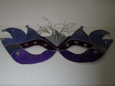 Oversized Masks - Purple / Silver