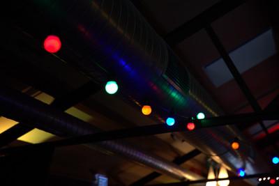 Festoon lights - coloured - 10m