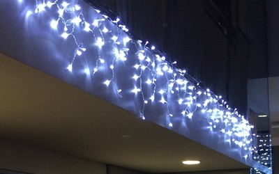 Icicle Lights - Bright White - 3m sections