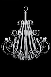 Chandelier - White Large 12 arm