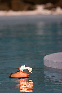 Floating Pool Oil Lamps - Copper