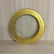 Charger Plate - Glass with gold edge