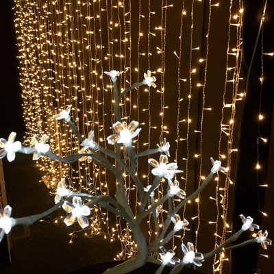 Fairylight Curtain 2m wide, 2.4m drop - warm white