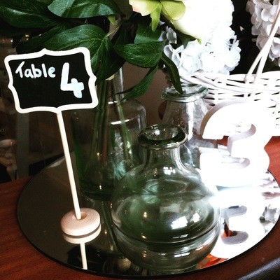 Chalk Table number stands