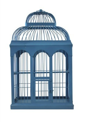 Birdcage - blue - large